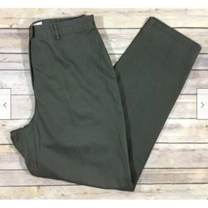 🌿Dressbarn Flat Front Casual Pants 12 Gray Cotton